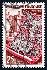 Postage stamp France 1954 Tapestry and Gobelin Workshop