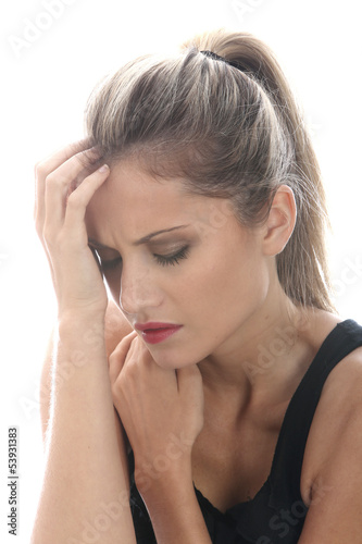 Model Released. Worried Young Woman