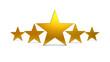 3D Golden Five Stars