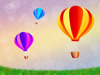 Hot air balloons festival