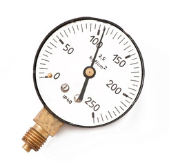 Pressure measuring instrument isolated on a white background