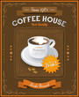 Vintage Coffee House card eps 10 illustration