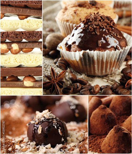 Collage of dessert