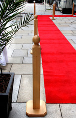 Empty red carpet