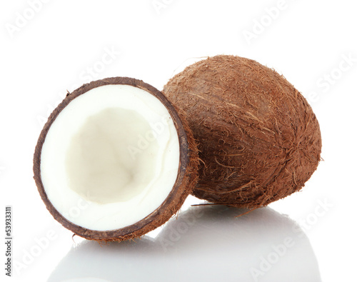 Coconuts, isolated on white