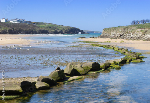Porth Beach, Cornwall, UK.