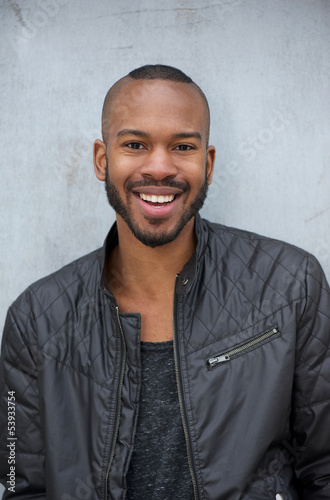 African american man with happy expression on face