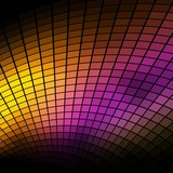 Abstract dark colorful mosaic vector background.