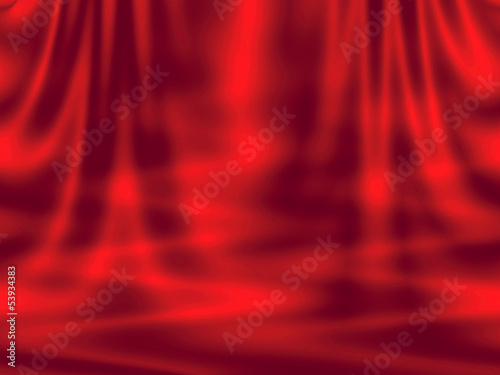 Abstract red background - curtain and waves