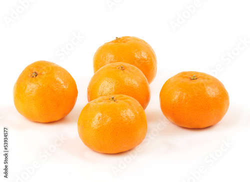 Mandarins isolated on white