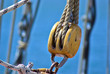 Sails ropes pulley