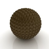 Abstract leather sphere with pimples poster