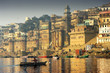 Leinwanddruck Bild - on the river Gange in Varanasi