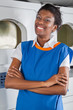 Female Helper Standing With Arms Crossed In Laundry