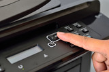multifunction printer with finger poster
