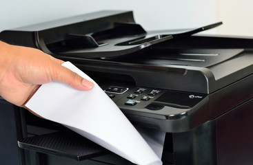 multifunction printer (Focus on button)