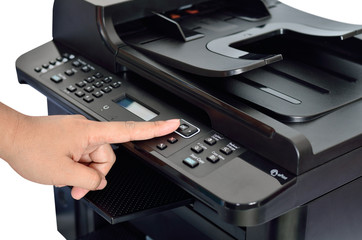 multifunction printer with finger