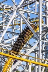 Design of the roller coaster at an amusement park