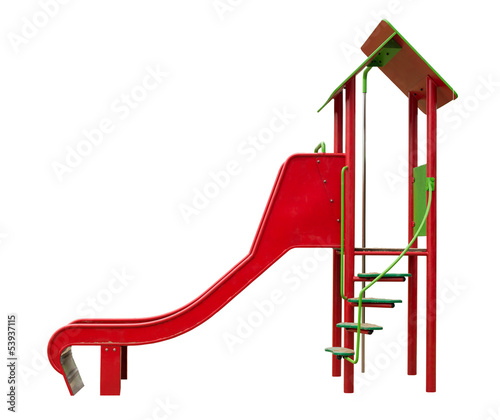 Slide isolated on white background
