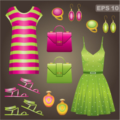 Fashion set. vector,