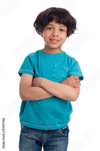Cute Mixed Race Afro Caribbean Boy.