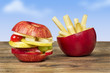 canvas print picture - healthy fast food