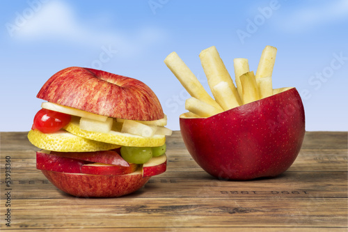 canvas print picture healthy fast food