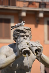 Statue at Piazza Navone, Rome