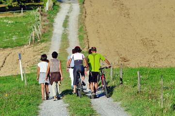 promenade dominical en famille