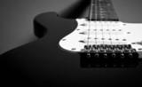 Electric guitar string detail