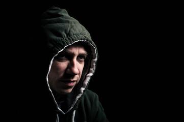 Hooded thug
