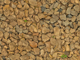 Slightly wet gravel with some grass (seamless texture)