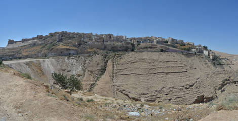 Panoramic view of Al Karak city - Jordan