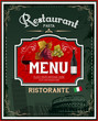 Vintage italian restaurant menu and poster design eps 10