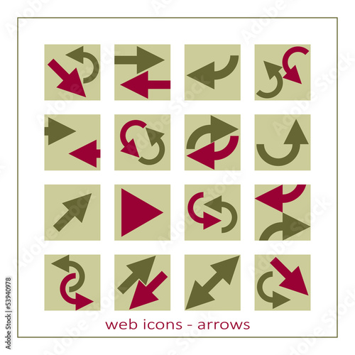 web arrows