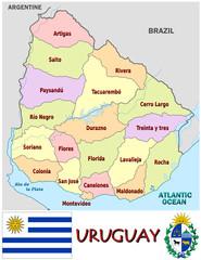 Uruguay South America national emblem map symbol motto