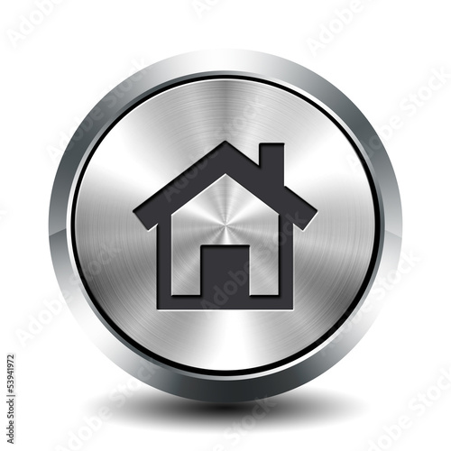Round metallic button - home