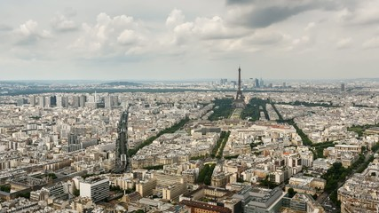 Aerial View on Eiffel Tower and Champ de Mars, Paris, France