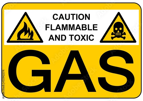 CARTEL CAUTION FLAMMABLE AND TOXIC