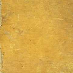 Yellow grunge background, old cloth coated paperboard texture