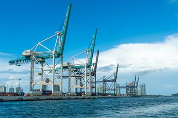 Cranes of the Miami Seaport
