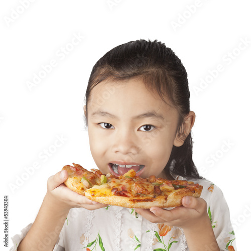 baby eat the pizza
