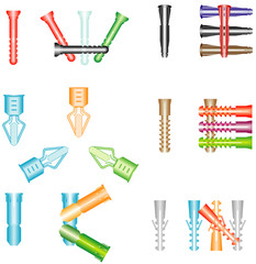 Dowels in different kind and size