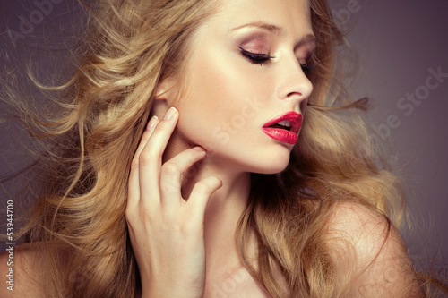 Attractive female model with pale complexion