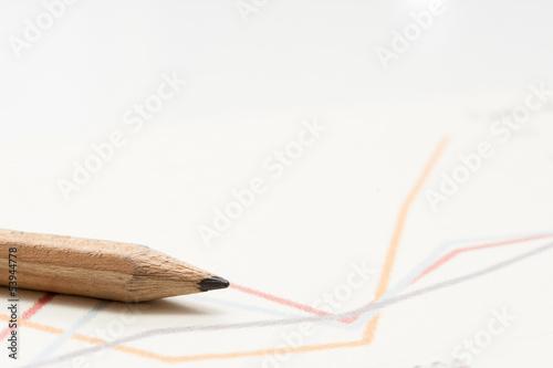 鉛筆とグラフ