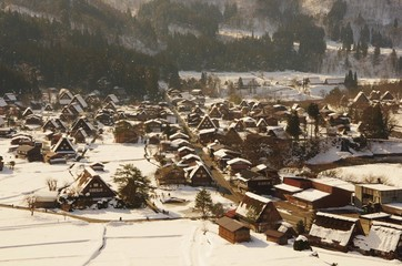 SNOWY VILLAGE Shirakawago 雪の白川郷 朝