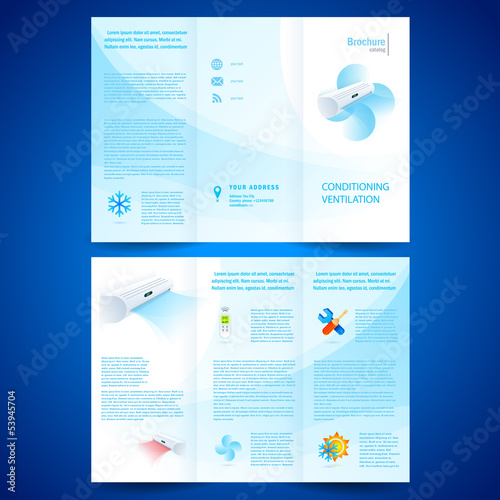 brochure folder leaflet air conditioner - conditioning ventilati
