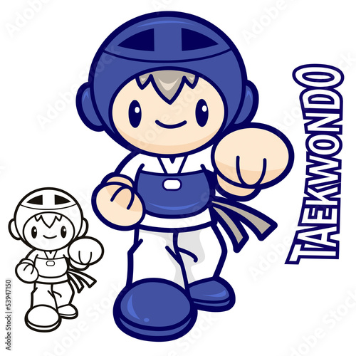 Taekwondo club mascot. Education and life Character Design serie