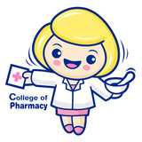 College of Pharmacy mascot. Education and life Character Design