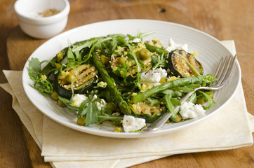 Asparagus and courgette salad